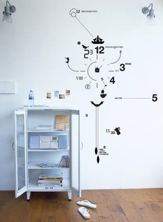 Illustration for article titled Artsick Decals Turn Your Wall Into a Custom Clock