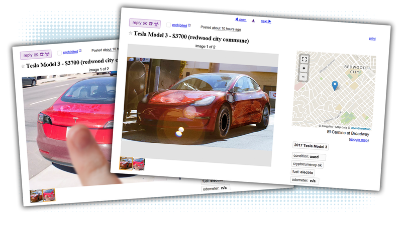 Illustration for article titled Craigslist Ads From The Future: Tesla Model 3