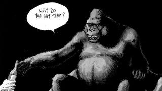 Illustration for article titled Read a bittersweet comic about a man shipwrecked with a talking gorilla