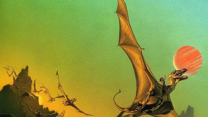 Illustration for article titled Dragonriders Of Pern hopes to be Warner Bros.' next Harry Potter