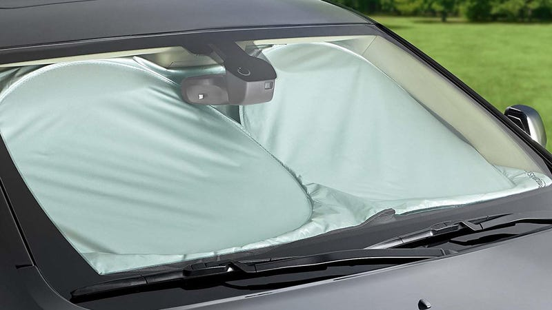 AmazonBasics Large Windshield Sun Shade | $4 | Amazon