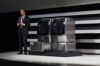 Illustration for article titled LG's New Twin Wash System Has a Cute Little Mini Washer Built In