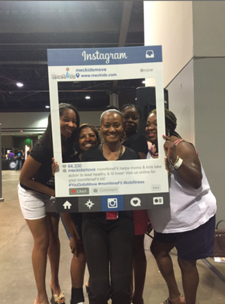 Fran Dean Bishop (center) at Ford Neighborhood Awards at the Heart&Soul Mag Health Expo in Atlanta, August 2015MECKids