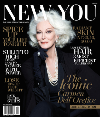 Illustration for article titled 83-Year-Old Carmen Dell'Orefice's Newest Mag Cover Is Goddamn Gorgeous
