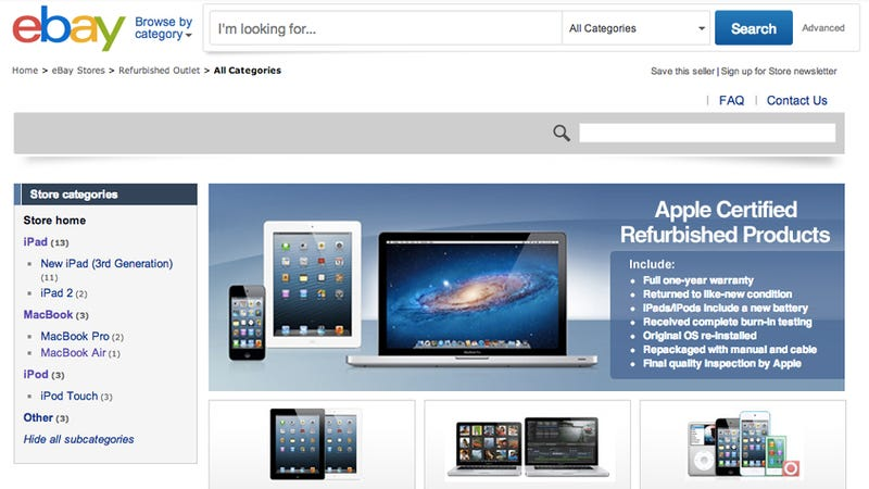 Illustration for article titled Apple's Weird Refurbished Ebay Store Is Gone