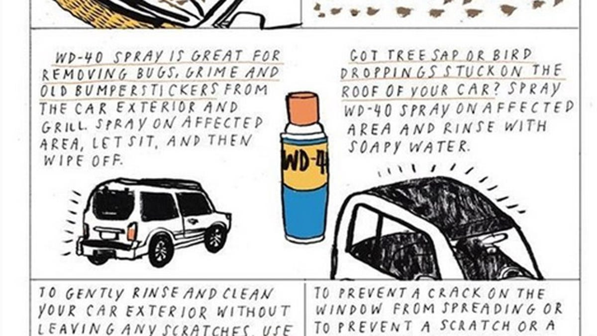 Clean Your Car with WD-40