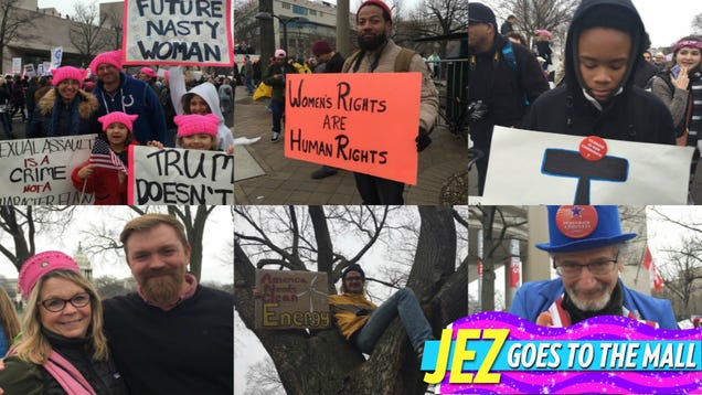 The Woke Men of the Women's March Good-Naturedly Answer Our Questions