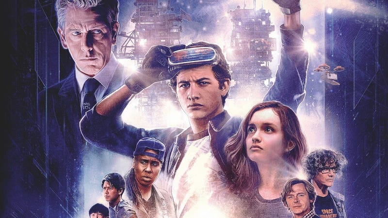 A crop of the Ready Player One poster by artist Paul Shipper.
