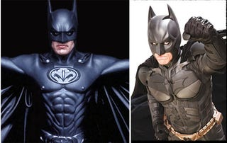 Illustration for article titled New Batsuit Has Bra Cups Instead Of Nipples