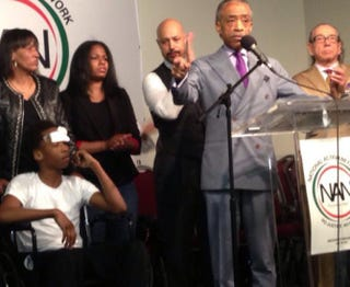 The Rev. Al Sharpton holds a news conference about 14-year-old Javier PayneNational Action Network
