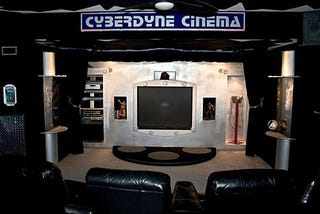 Illustration for article titled Terminator Home Theater Looks Tacky, Probably Sounds Great