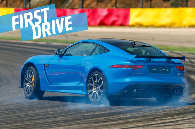 Illustration for article titled The Jaguar F-Type SVR Is A 575 Horsepower Screaming Track Day Lunatic