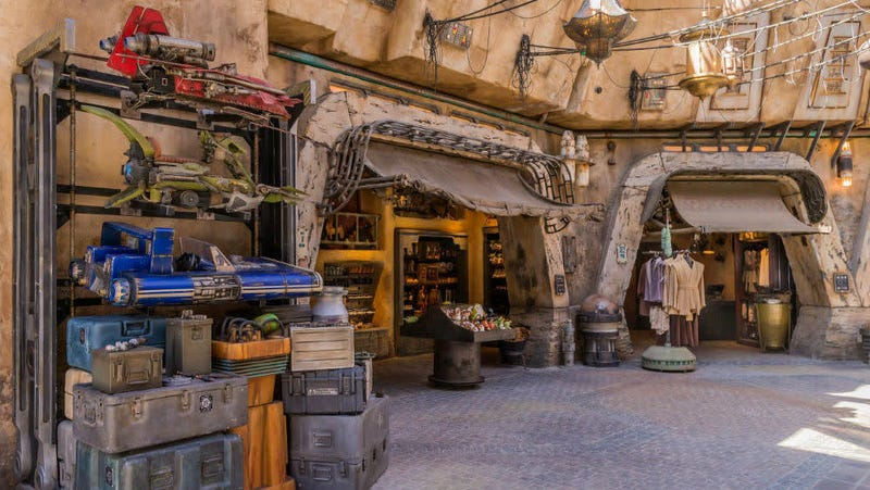 Merchandise sales at Star Wars: Galaxy's Edge helped offset the dip in park attendance.