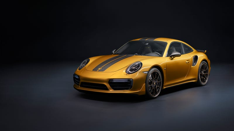 Illustration for article titled Thank God Porsche Made The 911 Turbo S Even More Expensive And More Importantly Gold