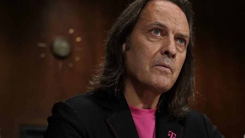 T-Mobile US Inc. John Legere testifies during a hearing before the Antitrust, Competition Policy and Consumer Rights Subcommittee of Senate Judiciary Committee June 27, 2018 on Capitol Hill in Washington, DC.