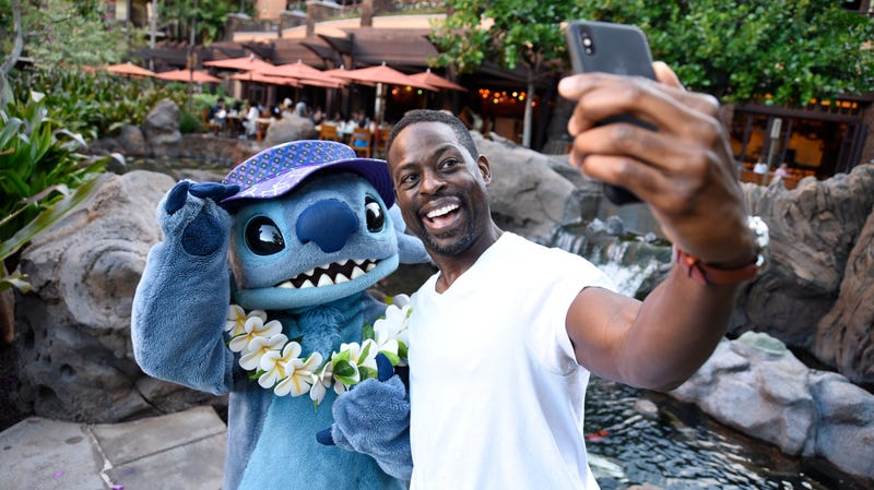 Stitch and his friend Sterling K. Brown