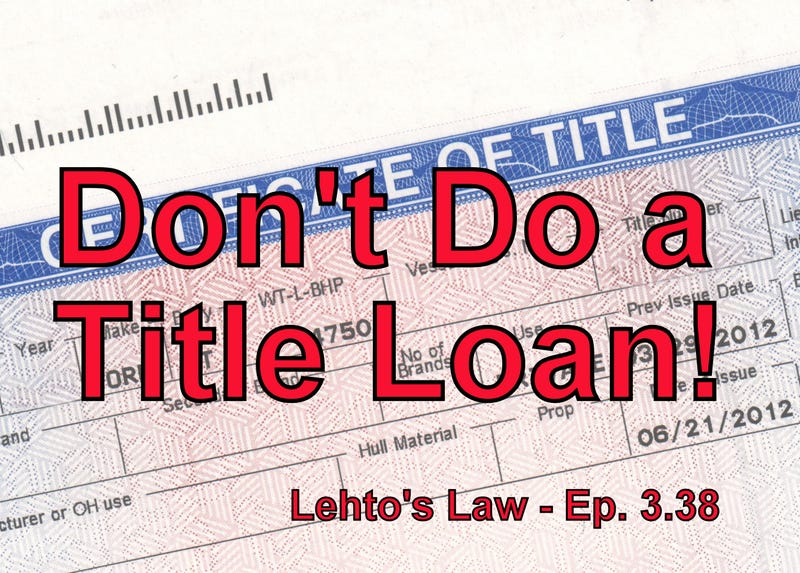 Illustration for article titled Don't Do A Title Loan! - The Podcast