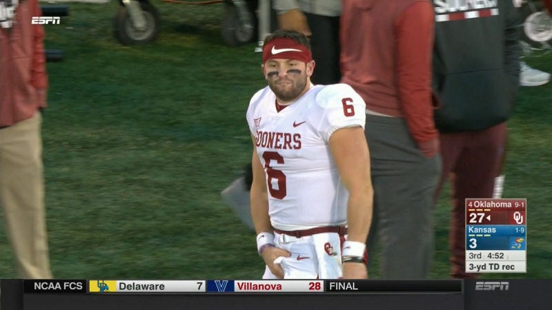 Mayfield Won't Start On Senior Day As Punishment For Sideline Outburst