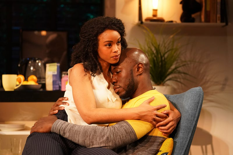 Mandi Masden and McKinley Belcher III in MCC Theater's The Light.