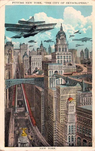 Illustration for article titled Future New York, The City of Skyscrapers (1925)