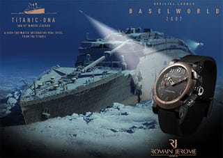 Illustration for article titled Titanic DNA Watch Made From Actual Titanic Parts