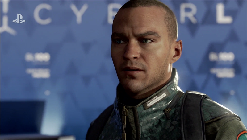 Marcus, modeled after and performed by actor and activist Jesse Williams, could be remembered as the android Malcolm X or MLK ... or a prophet-terrorist. (Image courtesy of Quantic Dream/Sony Interactive Entertainment)