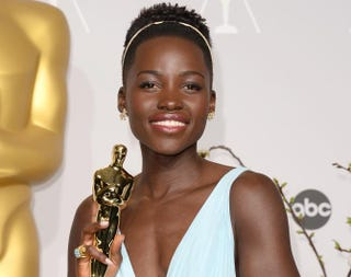 Lupita Nyong'o in the press room during the Academy Awards at Loews Hollywood Hotel in Hollywood, Calif., March 2, 2014Jason Merritt/Getty Images