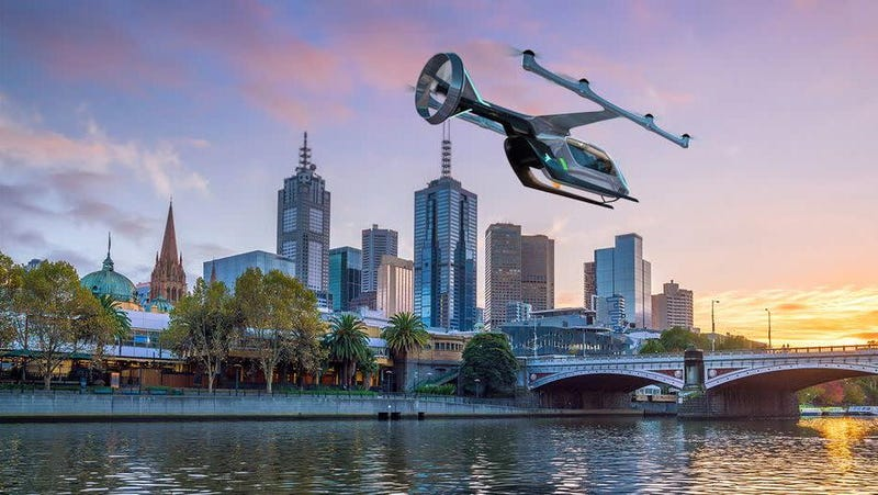 Illustration for article titled Uber Claims 'Aerial Ridesharing' On Track to Be 'More Economically Rational' Than Driving in About Three Years