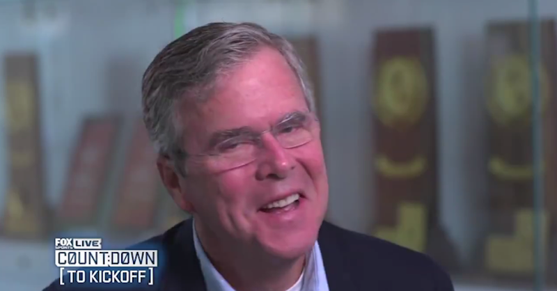 Illustration for article titled Jeb Bush Says He Didn't Smoke Weed With Bill Belichick