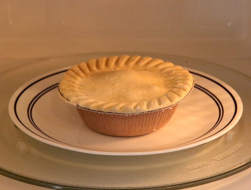 Illustration for article titled Thrill-Seeker Microwaves Pot Pie Without Slitting Crust