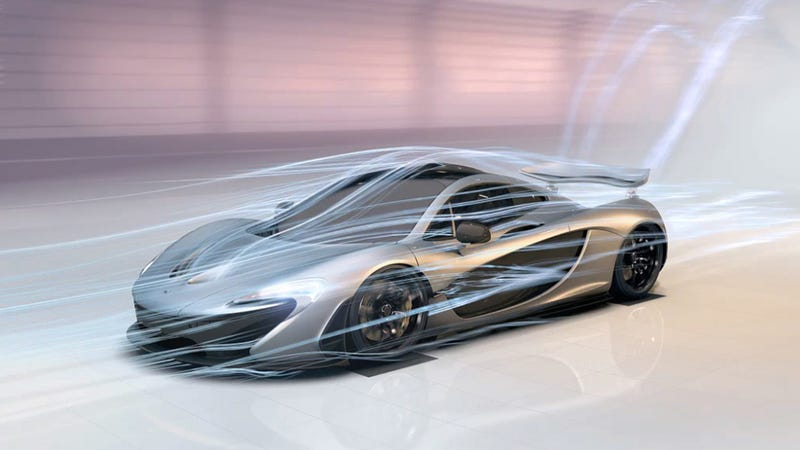 Illustration for article titled This Is The Airflow Around The McLaren P1