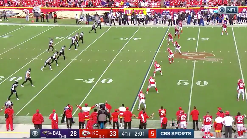 The Ravens Deployed A Neat Drop Kick To Save A Timeout