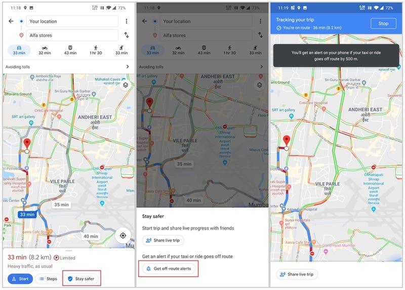 Illustration for article titled Google Maps te avisará si tu taxista se desvía de la ruta para cobrarte de más
