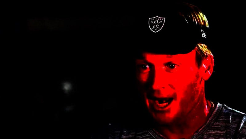 Illustration for article titled Just Five Blissful Minutes Of Jon Gruden Stomping Around Shouting At People