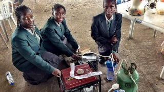 Illustration for article titled These Teenage Girls from Africa Made a Urine Powered Generator