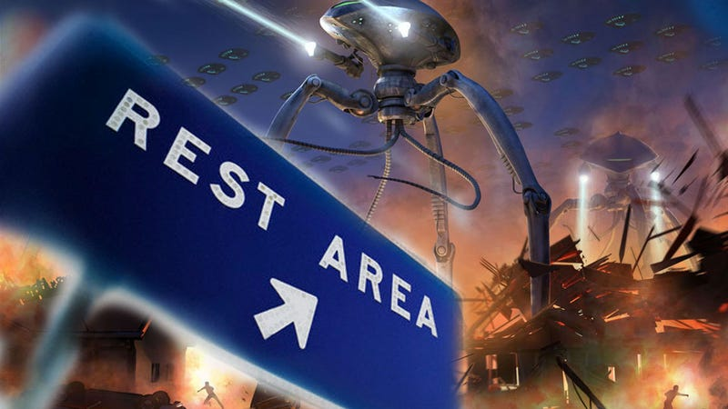 Illustration for article titled Elon Musk Wants To Invade Our Rest Stops With Supercharged Aliens