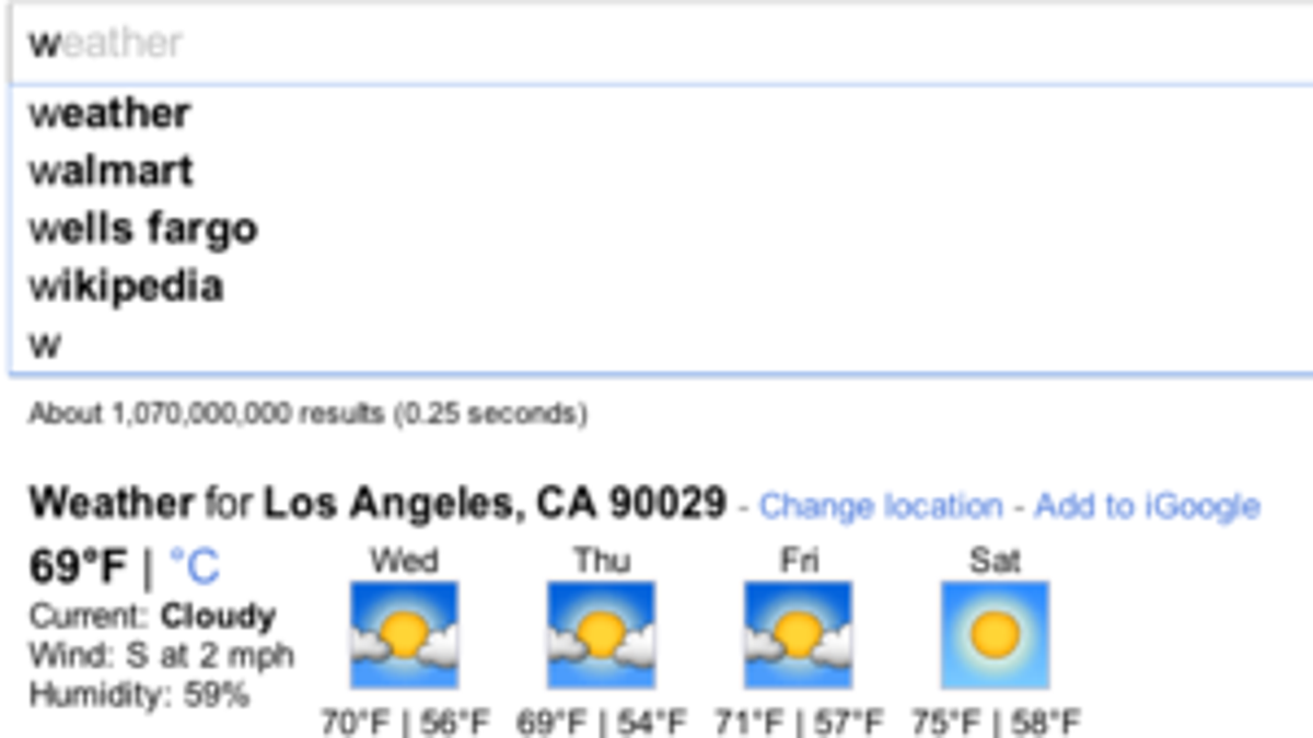 Google Instant Filters Your Google Search Results As You Type