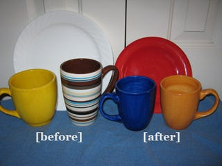 My reward for losing 10 pounds? New, smaller plates and mugs.