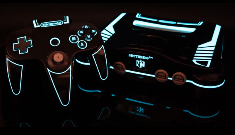Illustration for article titled An N64 That Looks Like It's Straight Out of Tron