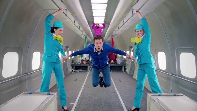 Illustration for article titled Read This: Get the inside scoop on OK Go's gravity-defying video