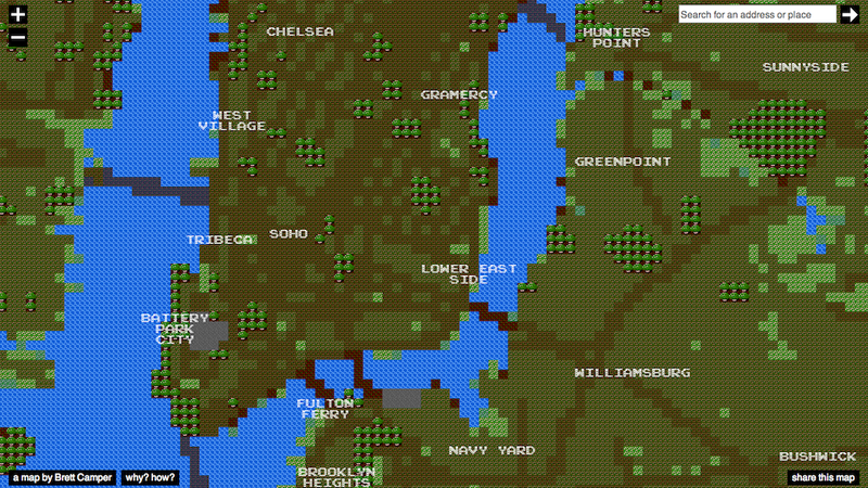 Illustration for article titled Travel the World with These Interactive 8-Bit City Maps