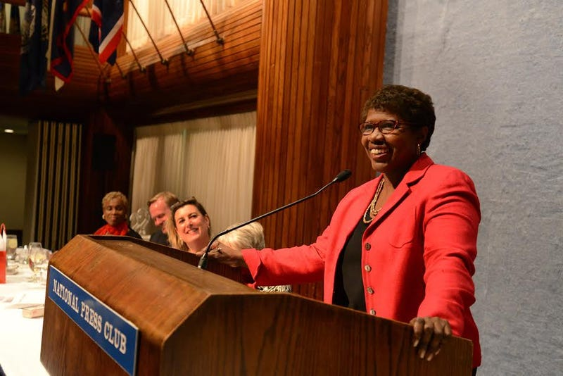 Gwen Ifill was roasted at the National Press Club in 2014. Neshan Naltchayan