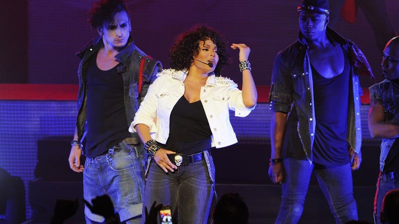 Janet Jackson performing during her 2011 tour. Photo courtesy of Getty Images