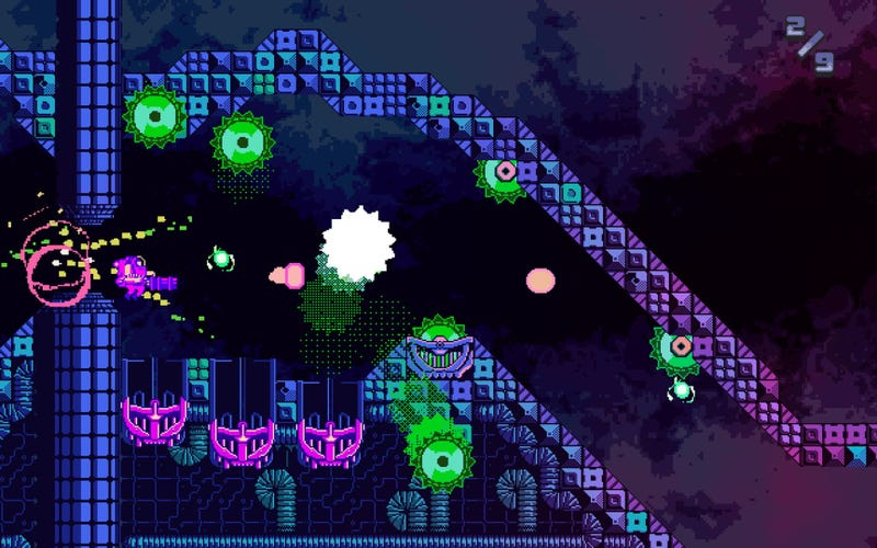 Illustration for article titled The Celeste of the Runner Genre: ATOMIK: RunGunJumpGun Is an Overlooked Gem on the Switch