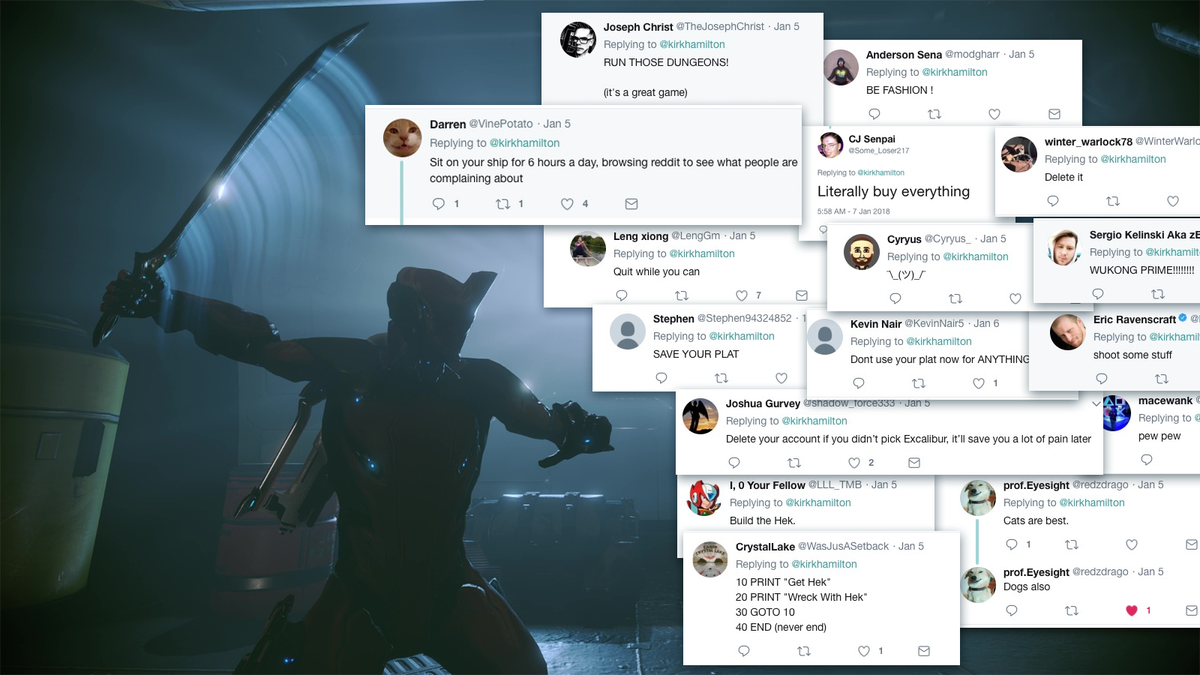 16 Things Twitter Taught Me About Warframe