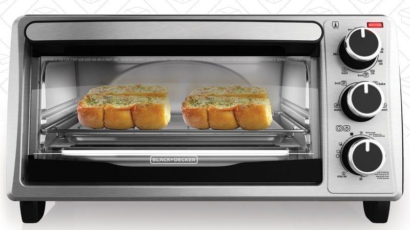 Black & Decker 4 Slice Toaster Oven, $23