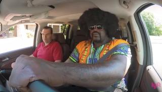 Shaquille O'Neal and a Lyft passengerYouTube screenshot