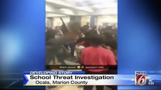 The altercation at West Port High School was prompted by white students who waved Confederate flags during lunch.Click Orlando screenshot