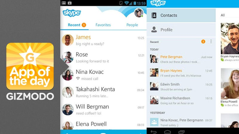 Skype 4 0 for Android: Same Skype, Totally New App