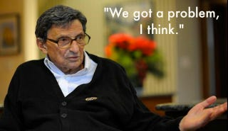 Illustration for article titled Joe Paterno's First Interview Since The Sandusky Scandal Is A Five-Page Waste Of Time